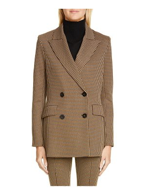 ROSETTA GETTY double breasted houndstooth blazer