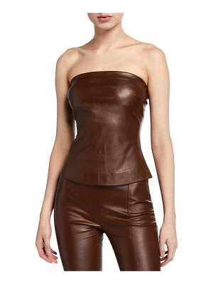 ROSETTA GETTY Leather Bandeau Top