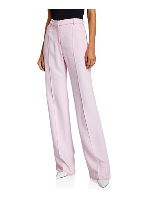 ROSETTA GETTY Pintucked Straight-Leg Trousers
