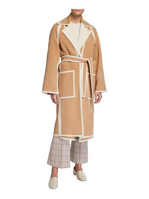 ROSETTA GETTY Reversible Double-Face Wool Trench Coat