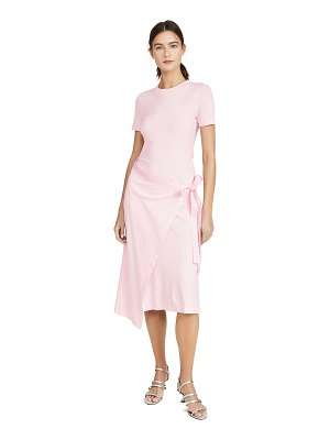 ROSETTA GETTY short sleeve apron wrap t-shirt dress