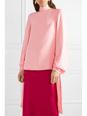 ROSETTA GETTY tie-detailed crepe blouse