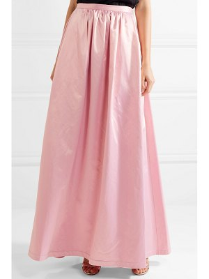 Rosie Assoulin pleated cotton-blend satin maxi skirt