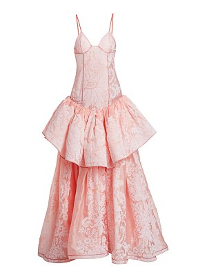 Rosie Assoulin tiered silk ball gown
