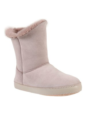 Ross & Snow gemma genuine shearling slipper bootie