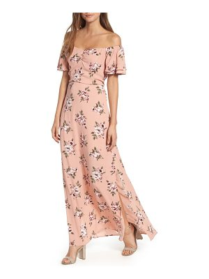 ROW A off the shoulder maxi dress