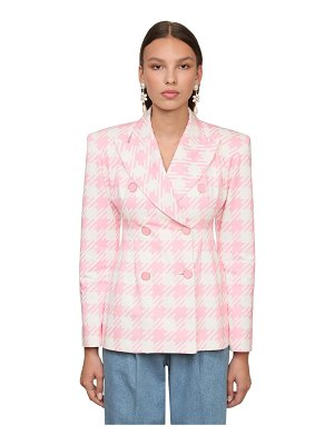 ROWEN ROSE Double breasted cotton blazer
