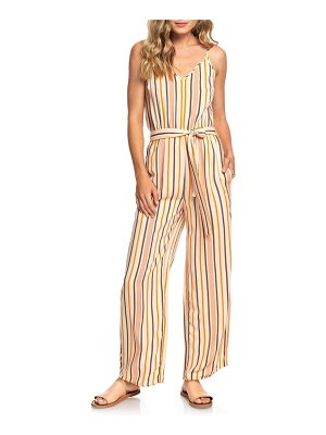 Roxy cha cha for now stripe jumpsuit