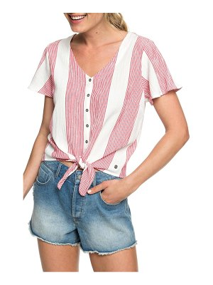 Roxy come and love tie hem top