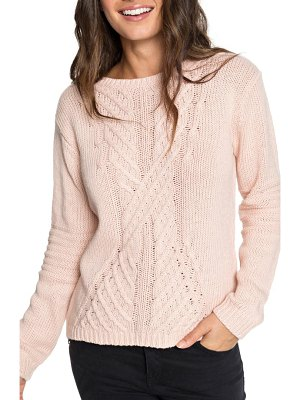 Roxy glimpse of romance cable knit sweater