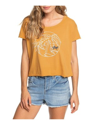 Roxy neon palm crop tee