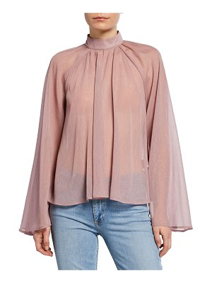 RtA Tennessee Metallic High-Neck Blouse
