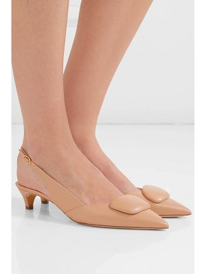 Rupert Sanderson misty leather slingback pumps