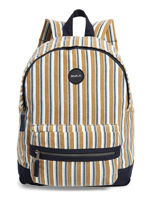 RVCA tides print canvas backpack