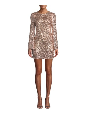 Ryse Drew Sequined Bell-Sleeve Cocktail Dress