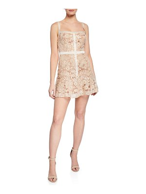 Ryse Mila Sequined Embroidered Mini Dress