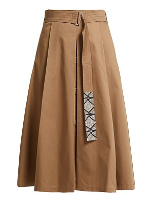 S MAX MARA Nuoro pleated cotton skirt