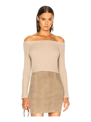 Sablyn Maja Off Shoulder Cashmere Sweater