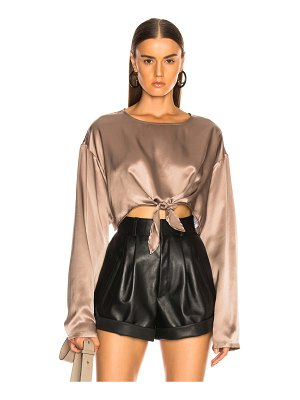 Sablyn Roc Knotted Silk Top