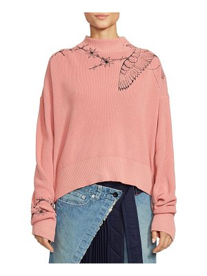 SACAI dr. woo embroidered sweater