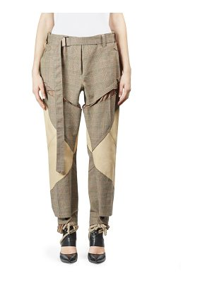 SACAI Glen Check Cutout Pant