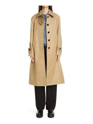SACAI layered denim & gabardine coat