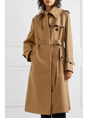 SACAI melton wool and cotton-gabardine trench coat
