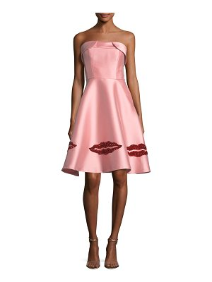 SACHIN & BABI Levent Metallic Lip Bustier Strapless Dress