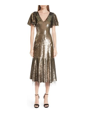 Sachin & Babi ruffle trim sequin dress