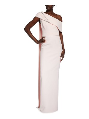 Safiyaa Asymmetrical Heavy Crepe Embellished Gown