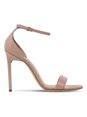Saint Laurent 105mm amber patent leather sandals