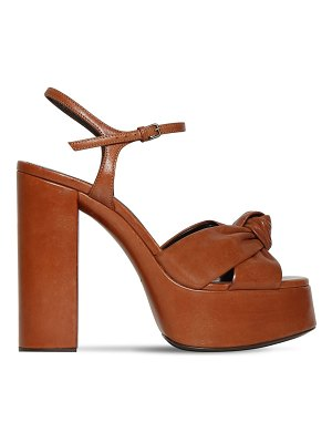 Saint Laurent 125mm bianca leather platform sandals