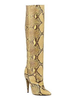 Saint Laurent Abbey Python Knee Boots