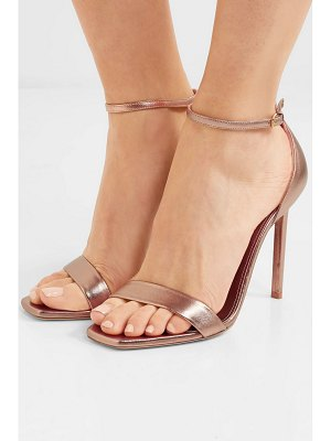 Saint Laurent amber metallic leather sandals