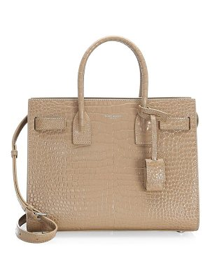 Saint Laurent baby stamped croc sac de jour