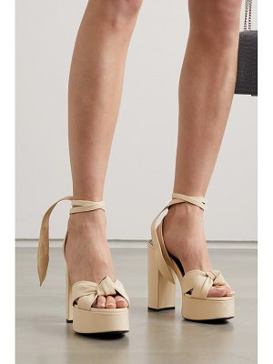 Saint Laurent bianca knotted leather platform sandals