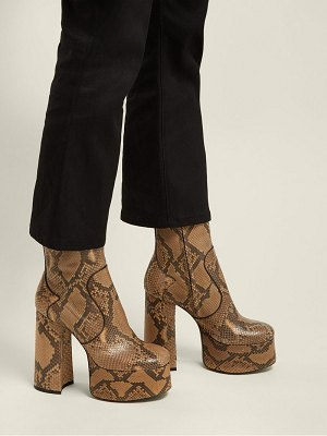 Saint Laurent Billy Python Leather Boots
