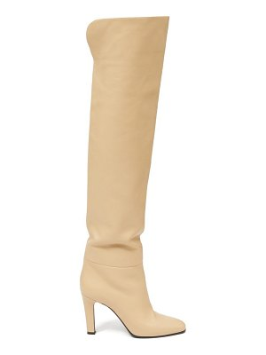 Saint Laurent over-the-knee leather boots