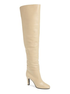 Saint Laurent blu over the knee boot