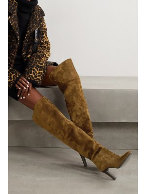 Saint Laurent jane suede over-the-knee boots