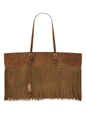 Saint Laurent Boucle Studded Fringe Vintage Suede Tote Bag