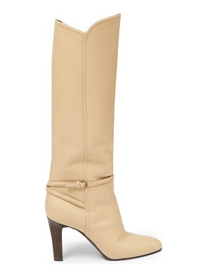 Saint Laurent jane knee-high leather boots