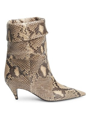 Saint Laurent charlotte python mid-calf booties