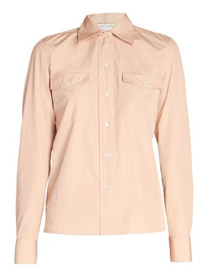 Saint Laurent collared poplin blouse