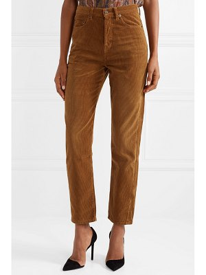 Saint Laurent cotton-corduroy straight-leg pants