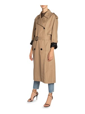 Saint Laurent Cotton-Silk Belted Trench Coat