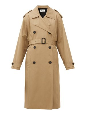 Saint Laurent exaggerated-collar cotton trench coat