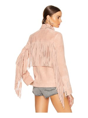 Saint Laurent fringe jacket