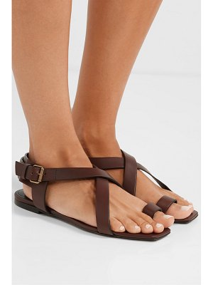 Saint Laurent hiandra leather sandals