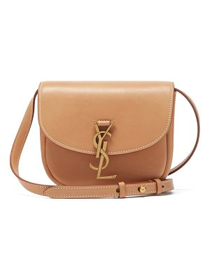Saint Laurent kaia small ysl-plaque leather cross-body bag